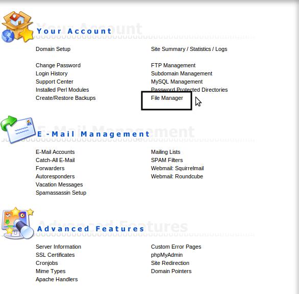 مدیریت فایل ها